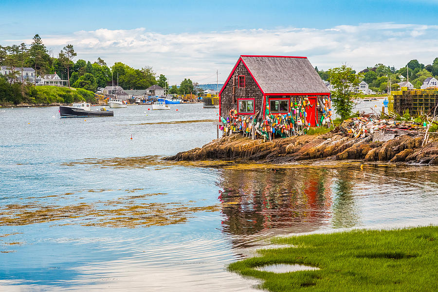 Lobster Shack in Mackerel Cove Maine Photograph by Photography by Deb Snelson