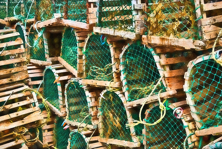 Canada Photograph - Lobster Traps by Boss Photographic