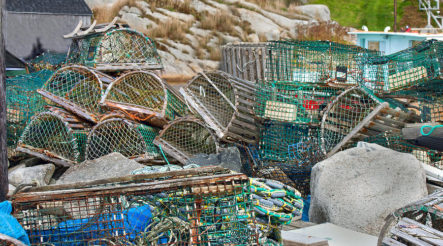 Lobster Photograph - Lobster Traps  by Betsy Knapp