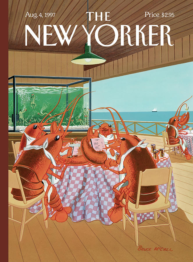 Lobstermans Special Painting by Bruce McCall