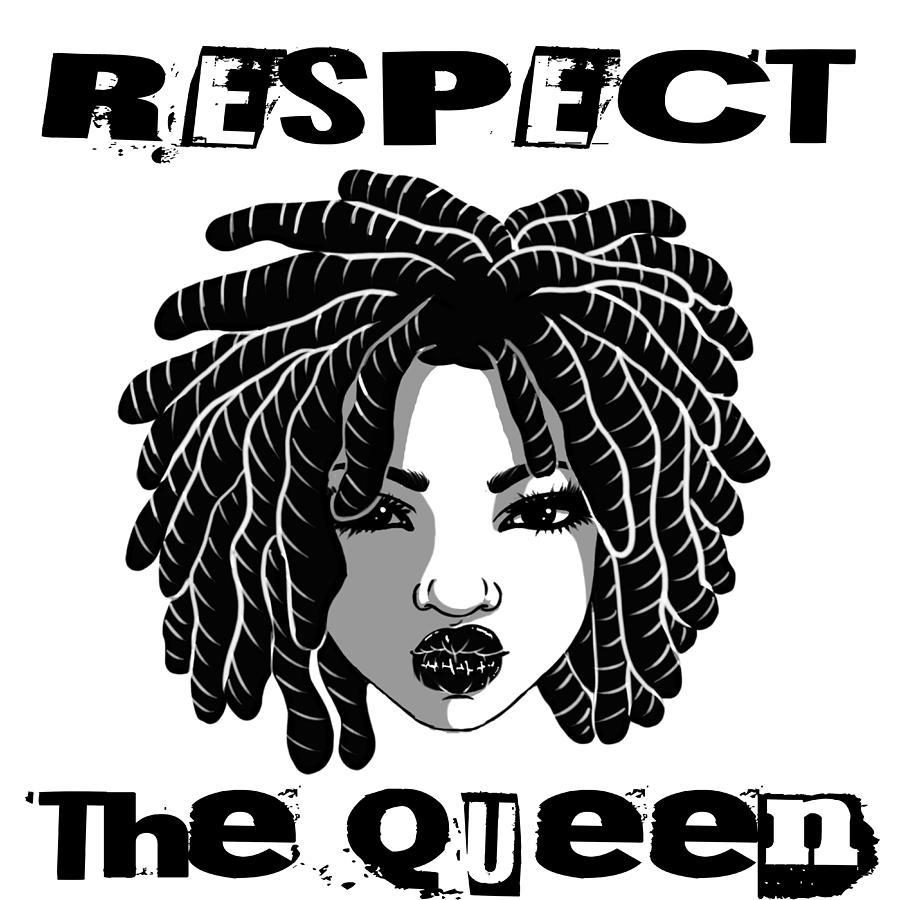 Locc'd Queen Digital Art by Respect the Queen