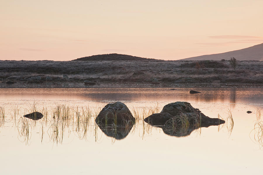 Tranquility Photograph - Loch Ba On A Frosty Morning At Rannoch by Julian Elliott / Robertharding