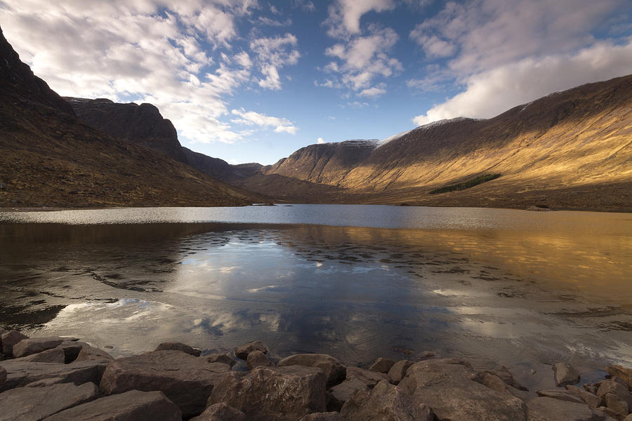Loch Photograph - Loch Coire Nan Arr by Karl Normington