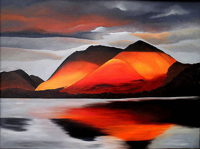 Scottish Landscape Painting - Loch Creran by Aileen Carruthers