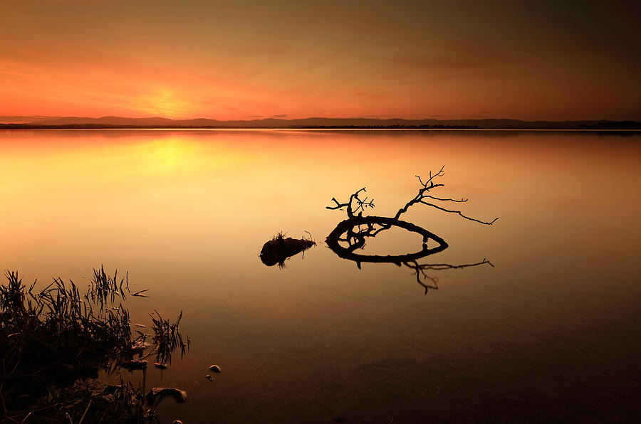 Sunset Photograph - Loch Leven Sunset by Grant Glendinning