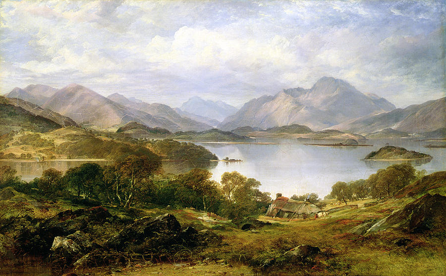 Lake Painting - Loch Lomond, 1861 by Horatio McCulloch