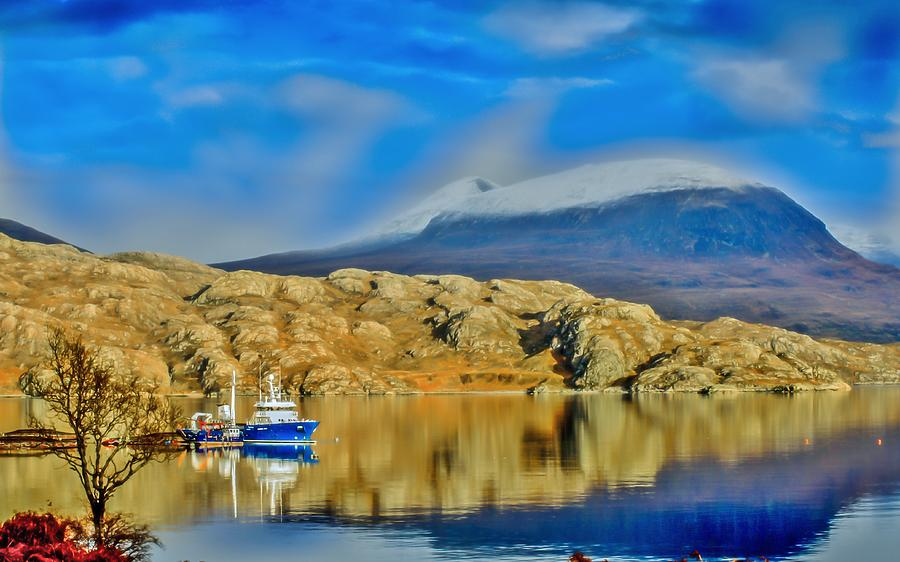Fish Photograph - Loch Shieldaig In Assynt In The Scottish Highlands by Tylie Duff