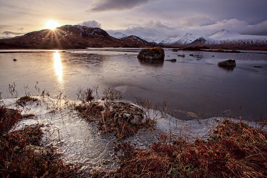 Rannoch Moor Photograph - Lochan Na H-achlaise by David Cation Photography