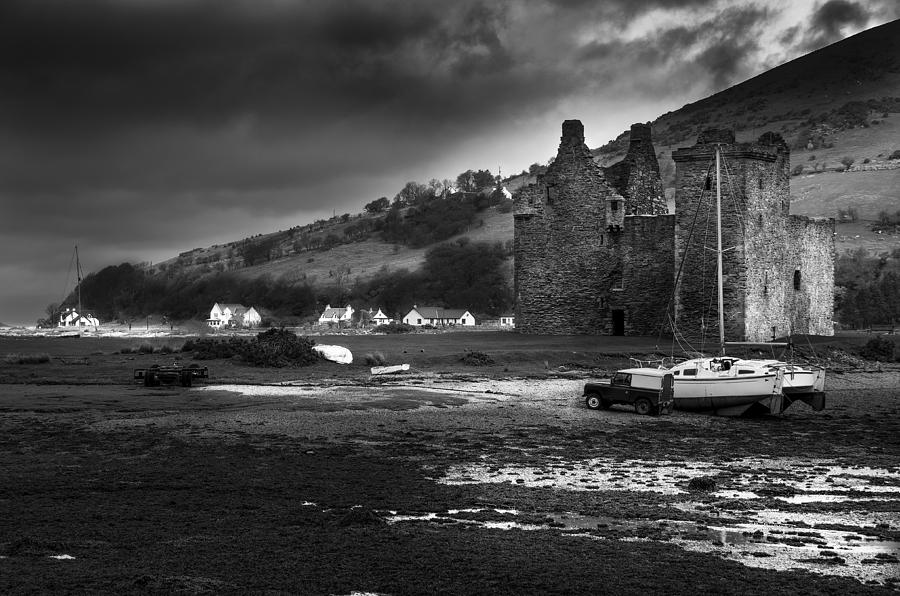 Lochranza Photograph - Lochranza Castle by Ross G Strachan