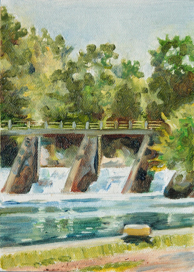 Landscape Painting - Lock 2 Raceway by Sarah Lynch