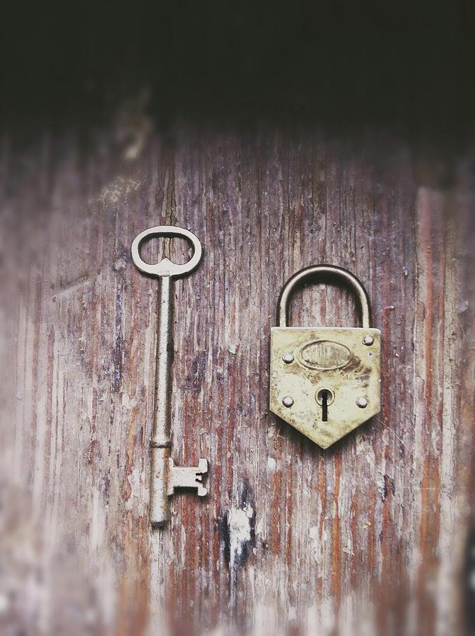 Lock And Key Photograph by Lisa Toboz