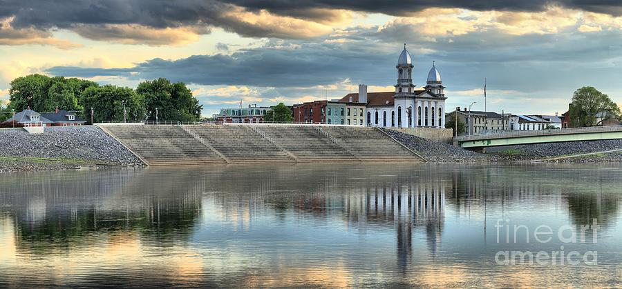Lock Haven Photograph - Lock Haven In The Susquehanna by Adam Jewell