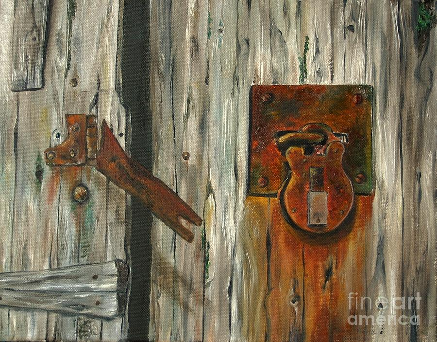Lock Painting - Lock Of Ages by Anna-maria Dickinson