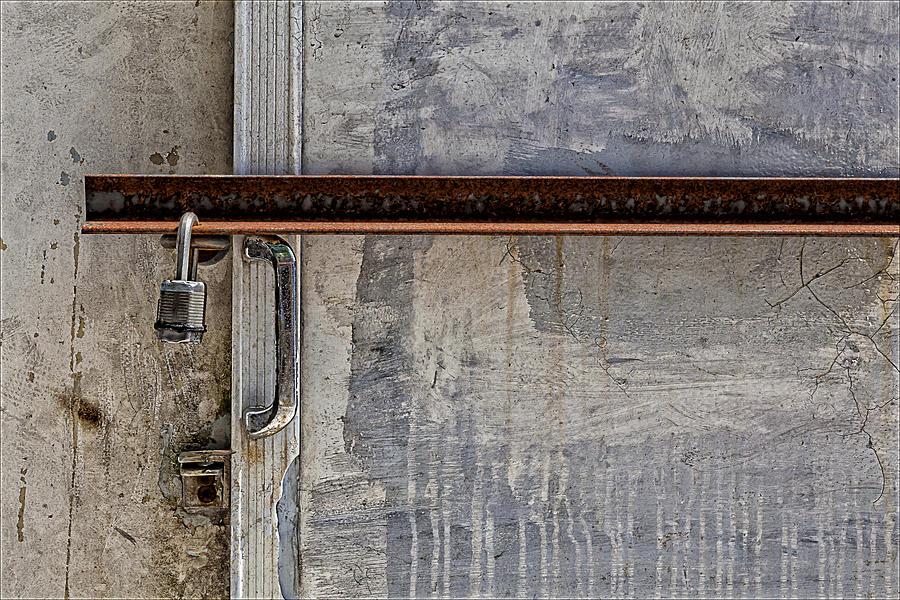 Padlocked Door Photograph - Locked And Barred by Robert Ullmann