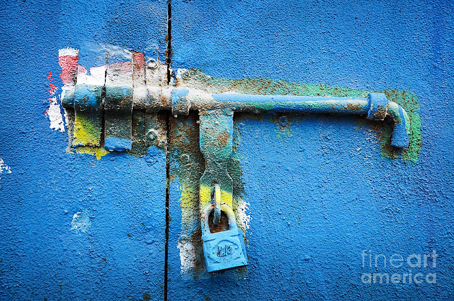 Locker Photograph - Locked by Delphimages Photo Creations