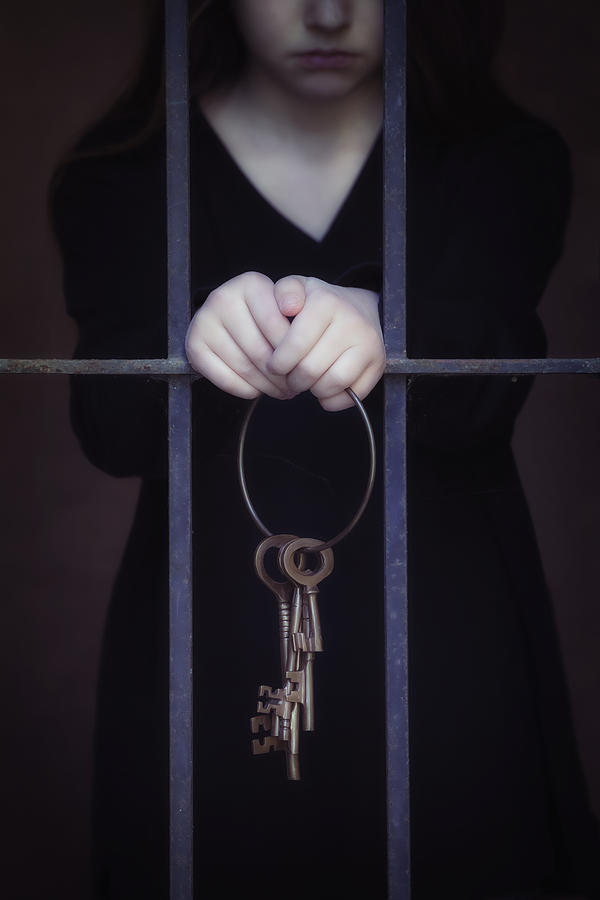Girl Photograph - Locked-in by Joana Kruse