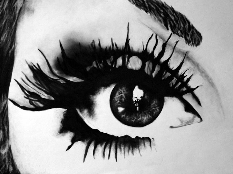 Black And White Drawing Digital Art - Locked Inside by Corina Bishop
