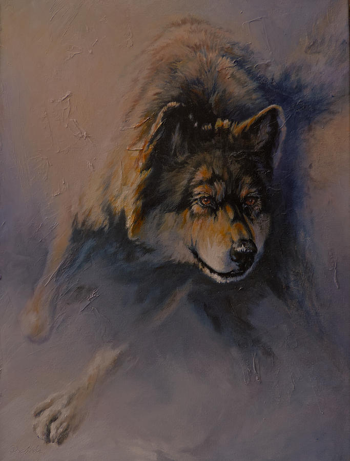 Wolves Painting - Locked On Target by Mia DeLode