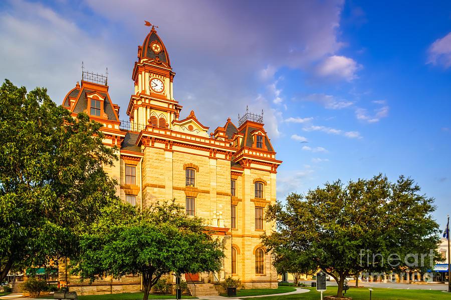 Caldwell County Photograph - Lockhart Courthouse II Main Street - Lockhart Texas by Silvio Ligutti