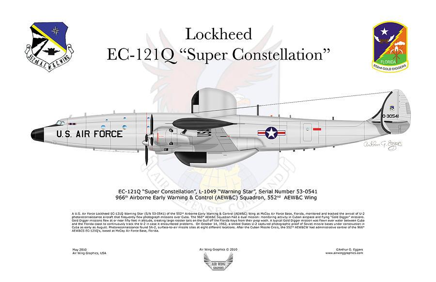Lockheed Digital Art - Lockheed Ec-121q Gold Diggers by Arthur Eggers