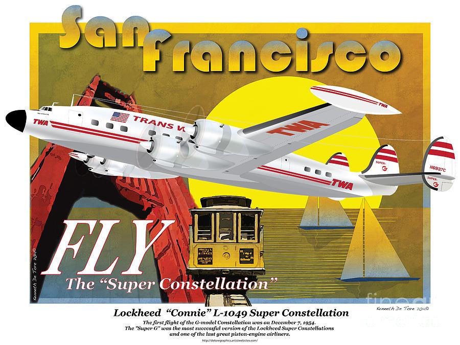 Lockheed L-1049G Super Constellation by Kenneth De Tore