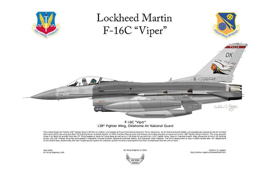 Lockheed Martin Digital Art - Lockheed Martin F-16c Viper by Arthur Eggers