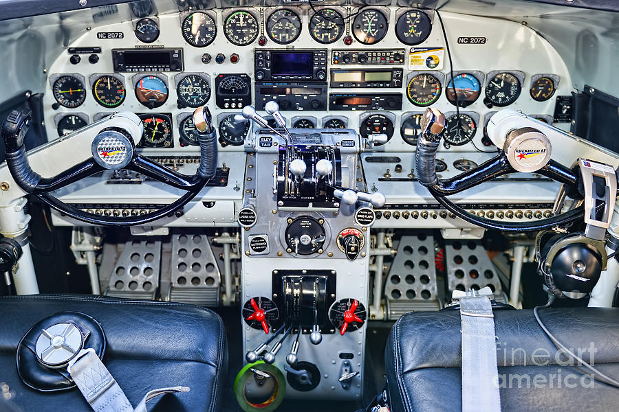 Lockheed 12a Electra Junior Cockpit Photograph by Olga ...