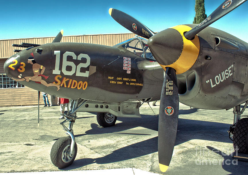 Lockheed P-38 Photograph - Lockheed P-38 - 162 Skidoo - 07 by Gregory Dyer