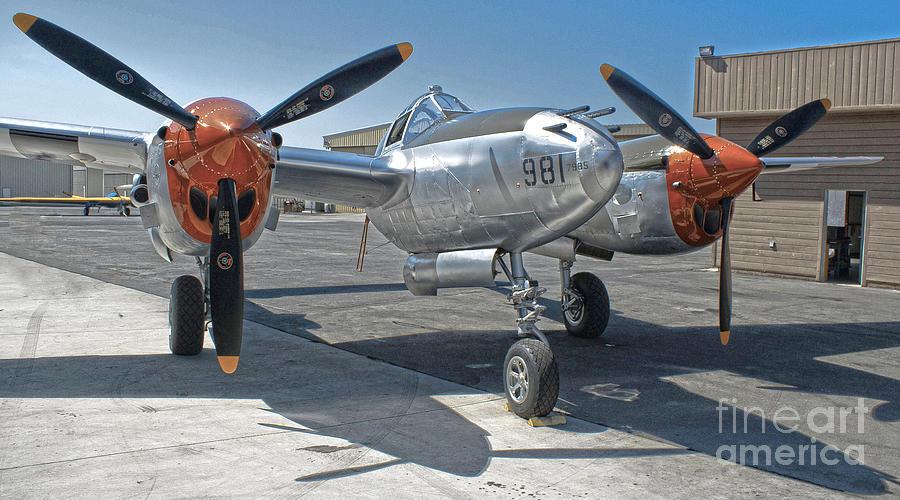 Lockheed P-38l Lightning Honey Bunny Photograph - Lockheed P-38l Lightning Honey Bunny  - 01 by Gregory Dyer