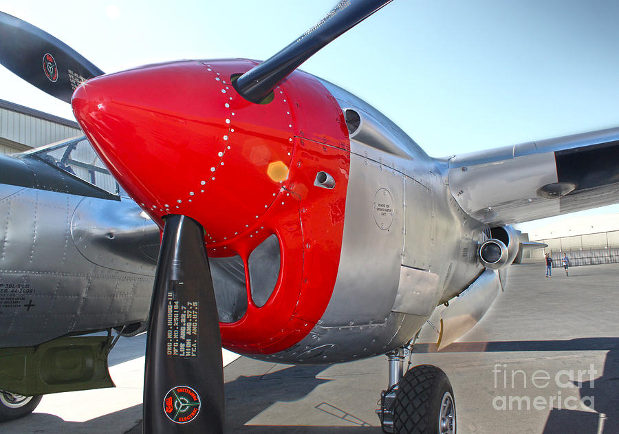 Aircraft Photograph - Lockheed P-38l Lightning Honey Bunny  - 07 by Gregory Dyer
