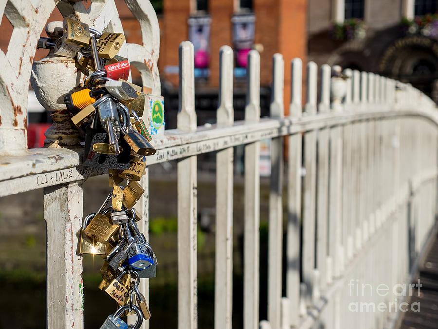Locks Of Love At Halfpenny Bridge Photograph