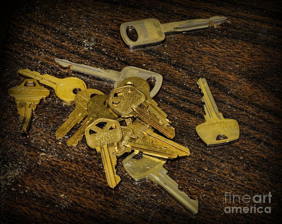 Paul Ward Photograph - Locksmith - Rejected Keys by Paul Ward