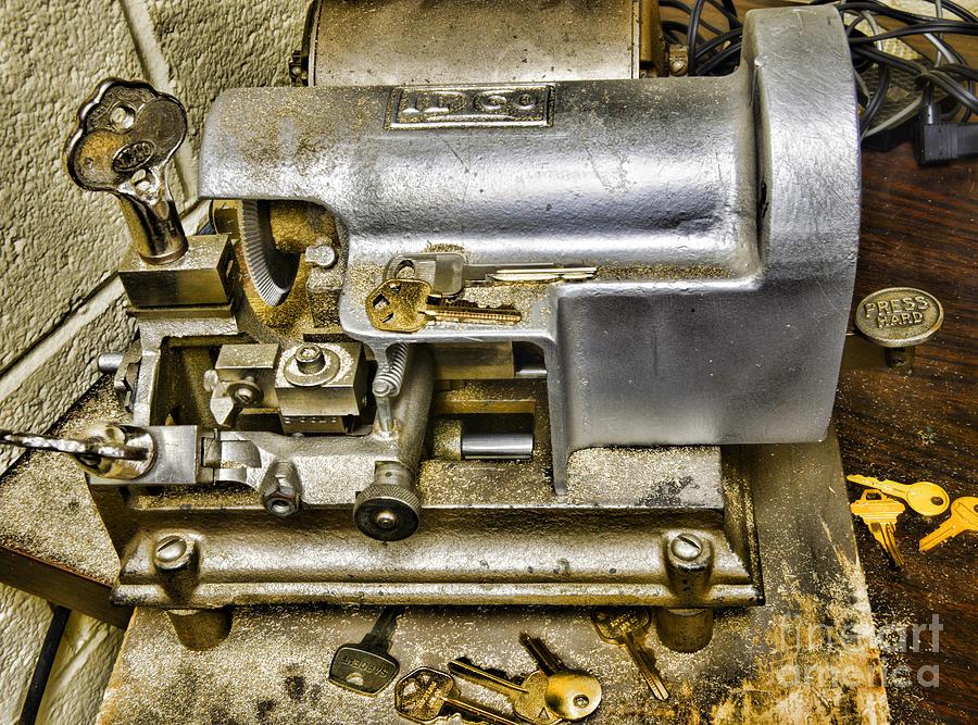Paul Ward Photograph - Locksmith - The Key Maker by Paul Ward