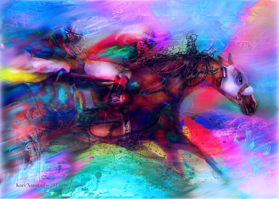 Thoroughbreds Digital Art - Locommotion by Kari Nanstad