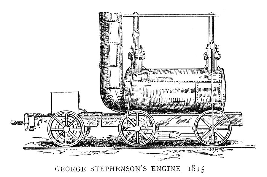 1815 Painting - Locomotive, 1815 by Granger