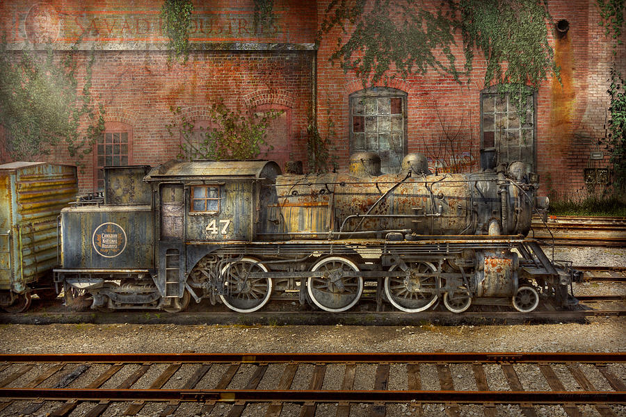 Savad Photograph - Locomotive - Our Old Family Business by Mike Savad