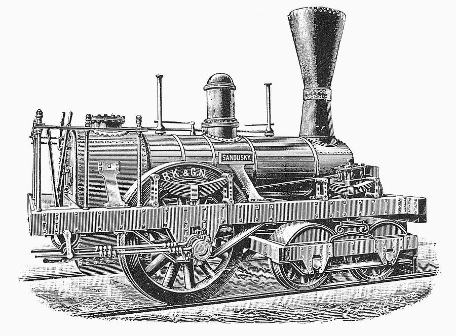 1837 Painting - Locomotive Sandusky, 1837 by Granger