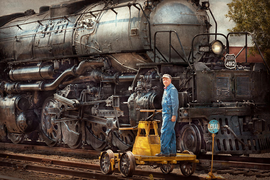 Savad Photograph - Locomotive - The Gandy Dancer  by Mike Savad