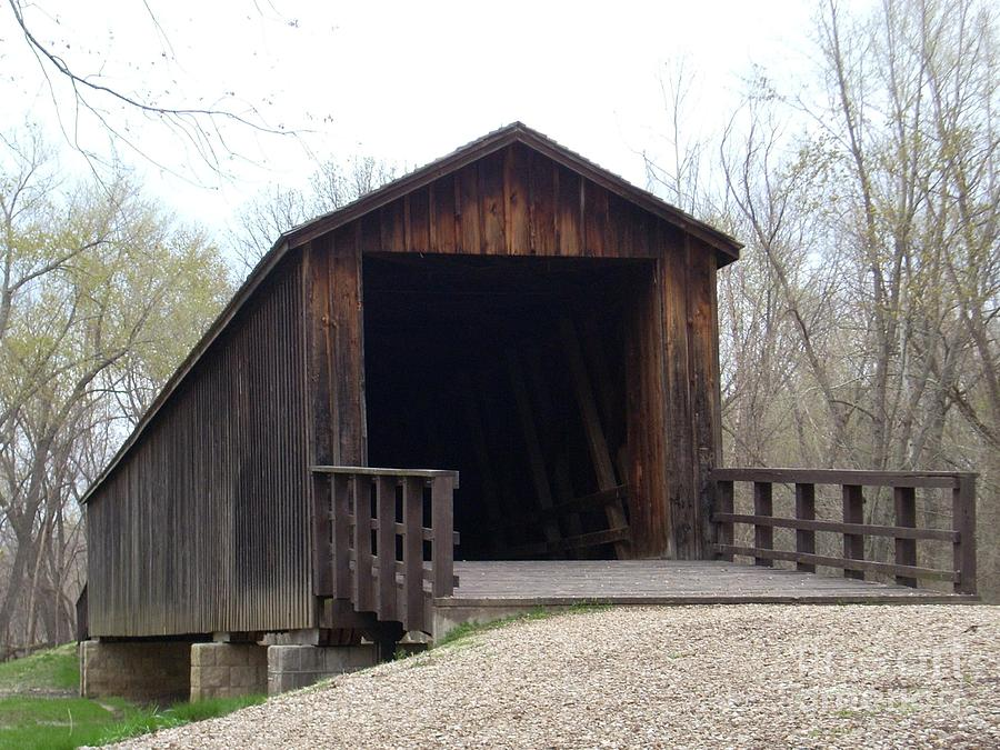 Covered Bridge Photograph - Locust Creek Covered Bridge by Mark McReynolds