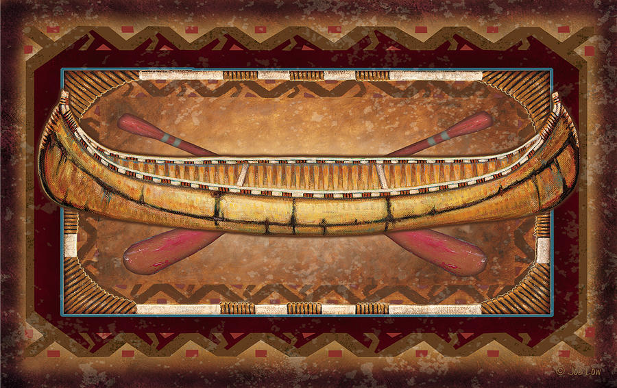 Canoe Painting - Lodge Canoe by JQ Licensing