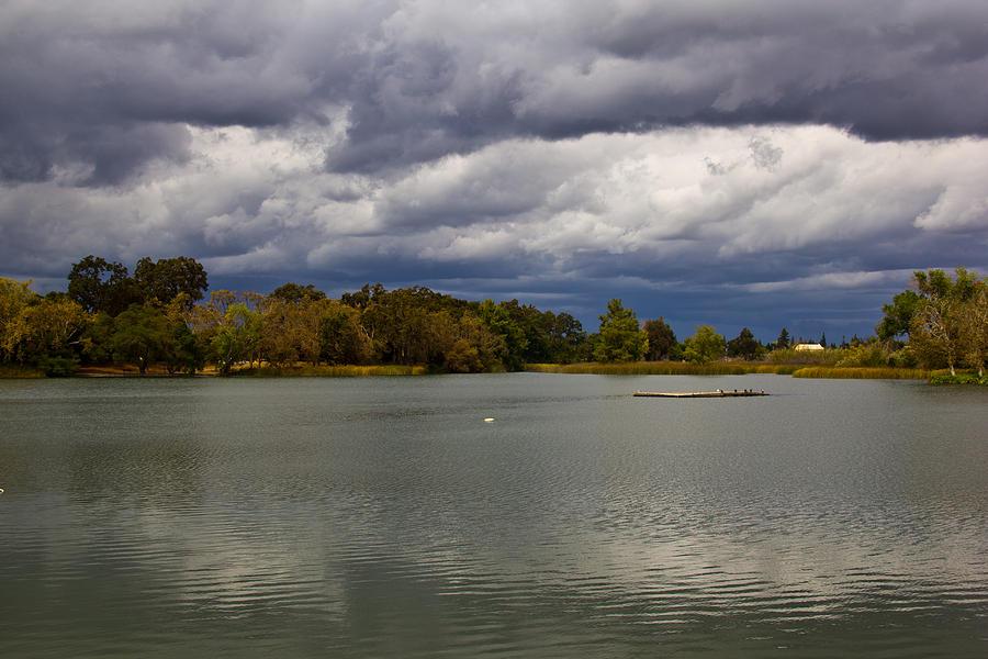 Clouds Photograph - Lodi Lake by Randy Bayne