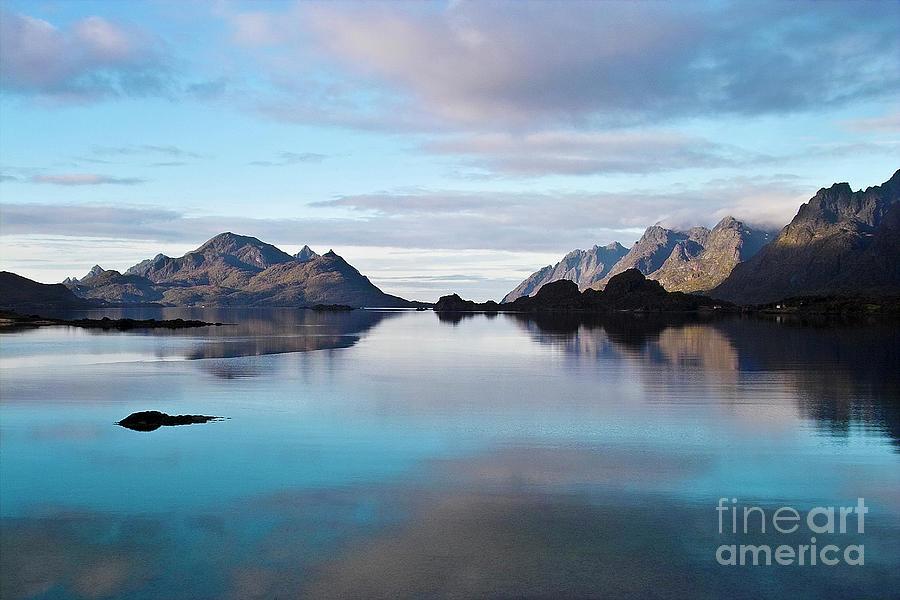 Seascape Photograph - Lofoten Islands Water World by Heiko Koehrer-Wagner
