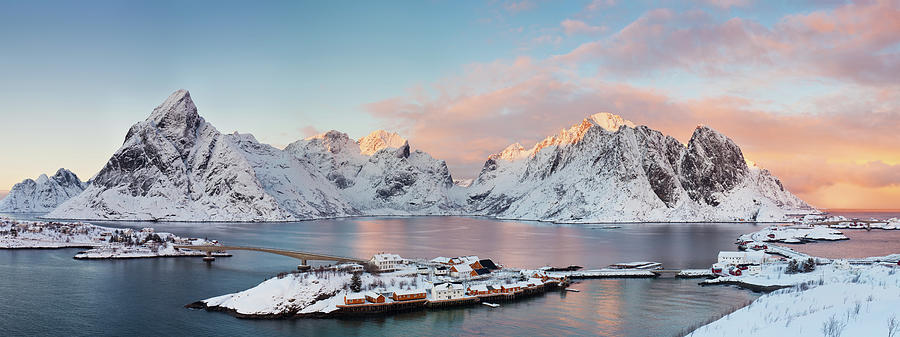 Lofoten Islands Winter Panorama Photograph by Esen Tunar Photography