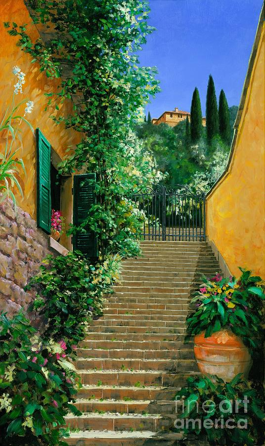 Bellagio Painting - Lofty Heights by Michael Swanson