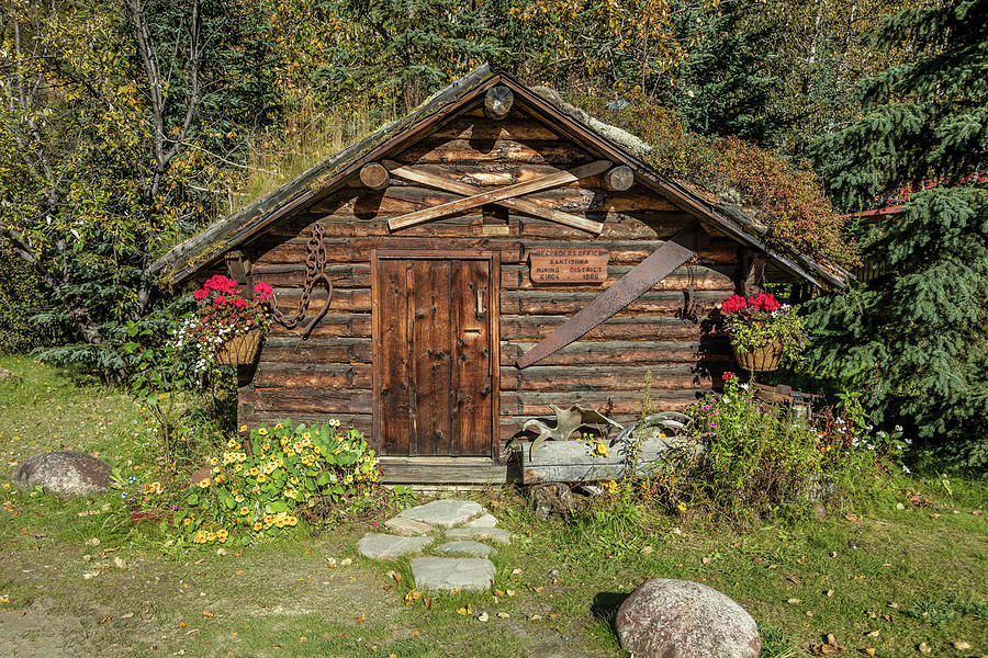 Horizontal Photograph - Log Cabin Kantishna, Alaska, Mnt by Panoramic Images