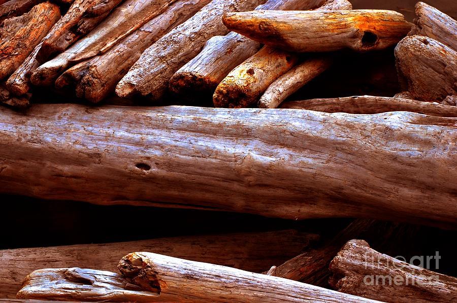 Logs Photograph - Log Pile by Phillip Garcia