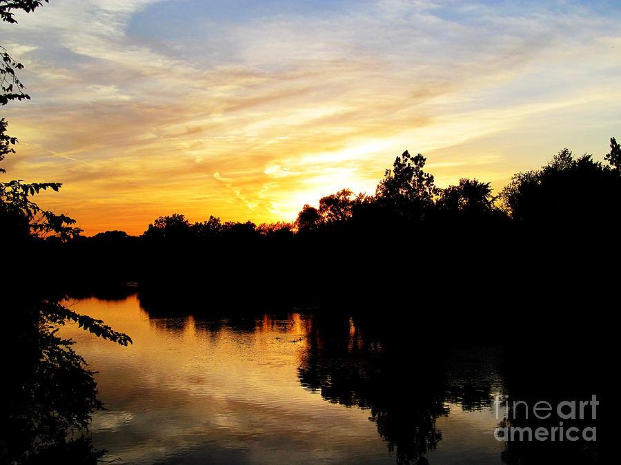Sun Photograph - Logan Street Sunset Two by Tina M Wenger
