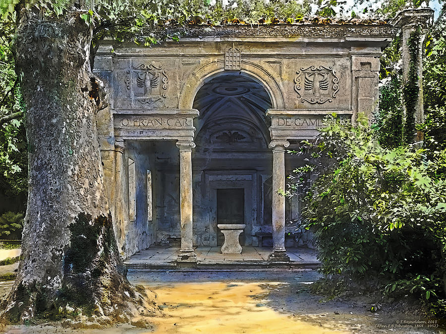 Tranquil Painting - Loggia Of The Muses by Terry Reynoldson