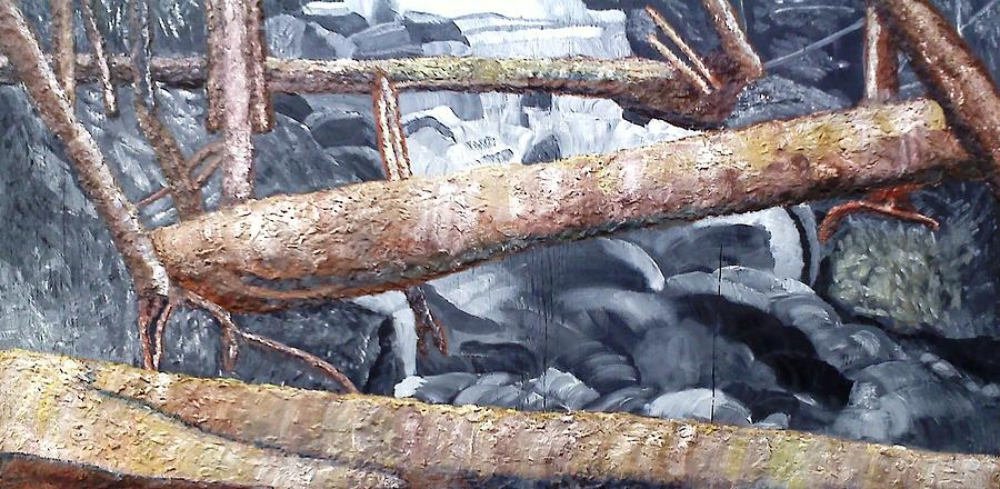 Logs Painting - Logs by Leslye Miller