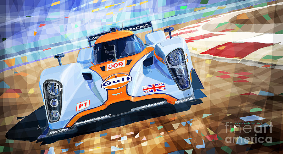 Automotive Mixed Media - Lola Aston Martin Lmp1 Racing Le Mans Series 2009 by Yuriy Shevchuk